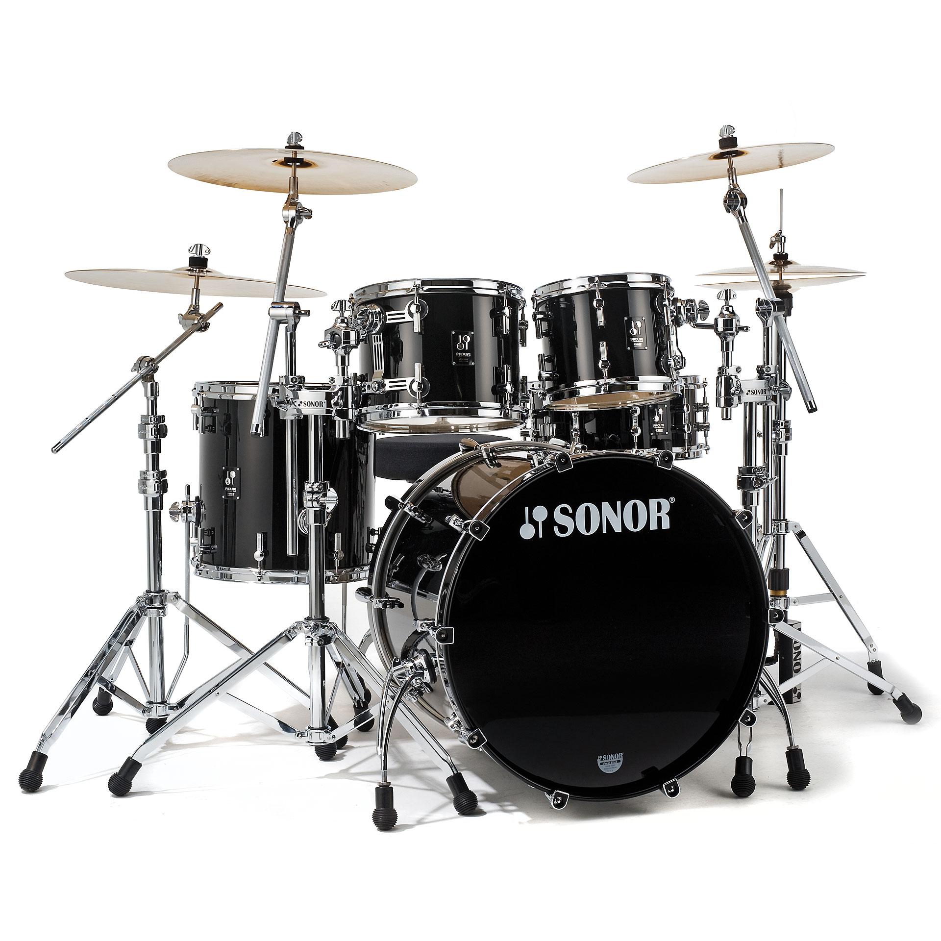 Sonor Prolite Pl 12 Stage 2 Brilliant Black 171 Drum Kit