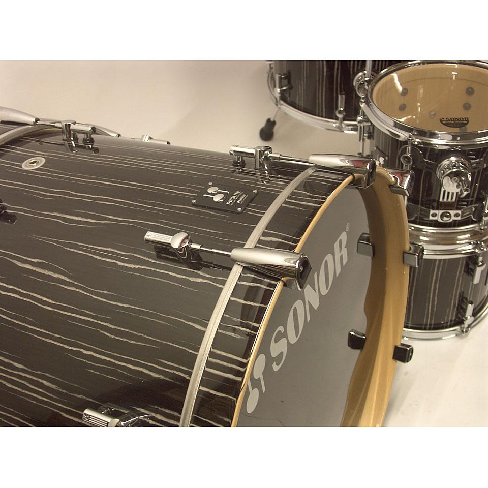 Sonor Prolite Pl 12 Stage 3 Ebony White Stripes 171 Batterie