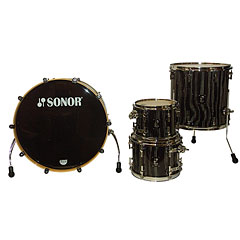 Sonor ProLite PL 12 Stage 3 Ebony White Stripes « Batería