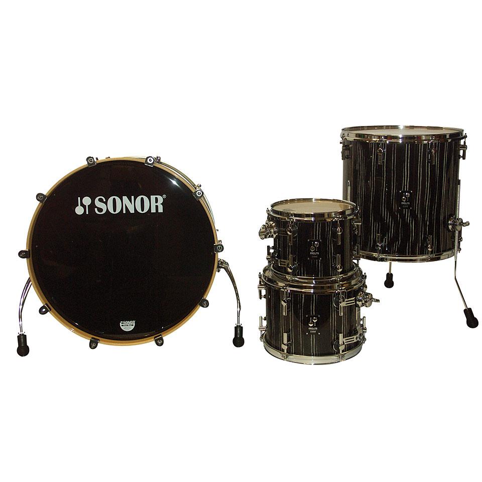 Sonor Prolite Pl 12 Stage 3 Ebony White Stripes 171 Schlagzeug