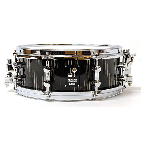 "Caja Sonor ProLite 13"" x 5"" Ebony White Stripes Snare"