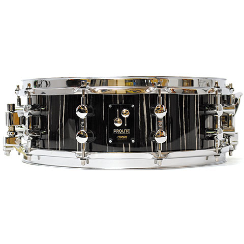"Sonor ProLite 14"" x 5"" Ebony White Stripes"