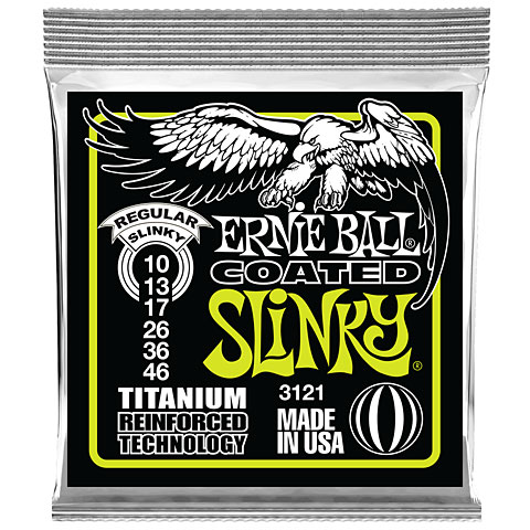 Cuerdas guitarra eléctr. Ernie Ball Regular Slinky Coated 3121 .010-046