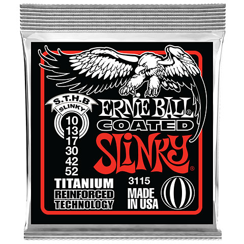 Saiten E-Gitarre Ernie Ball Skinny Top Heavy Bottom Slinky Coated 3115 .010-052