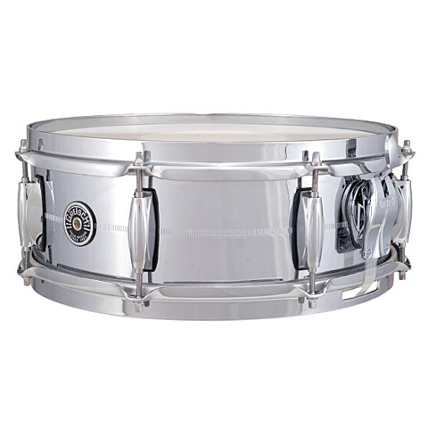 "Snare Drum Gretsch Drums USA Brooklyn 14"" x 5"" Chrome over Brass Snare"