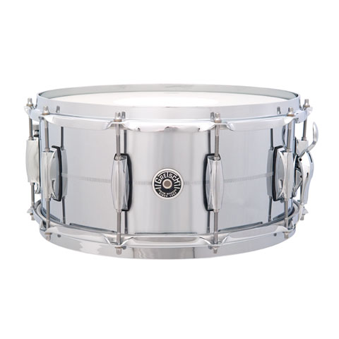 "Caja Gretsch Drums USA Brooklyn 14"" x 6,5"" Chrome over Brass Snare"