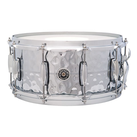 "Caisse claire Gretsch Drums USA Brooklyn 14"" x 6,5"" Hammered Chrome over Brass Snare"