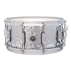 "Gretsch Drums USA Brooklyn 14"" x 6,5"" Hammered Chrome over Brass Snare « Caisse claire"