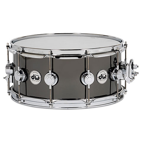"Snare Drum DW Collector´s 14"" x 6,5"" Black Nickel Over Bra"