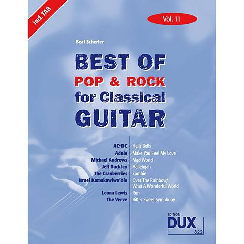 Dux Best of Pop & Rock for Classical Guitar Vol.11