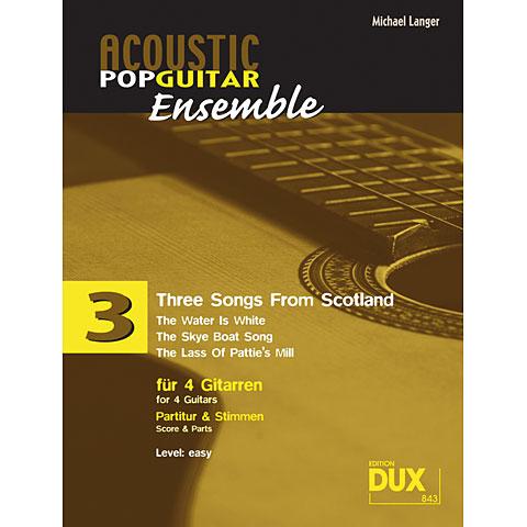 Libro de partituras Dux Acoustic Pop Guitar Ensemble 3 - Three Songs From Scotland