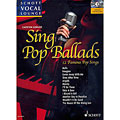 Libro di spartiti Schott Schott Vocal Lounge Sing Pop Ballads