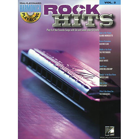 Hal Leonard Harmonica Play-Along Vol.2 - Rock Hits