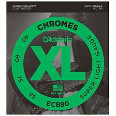 D'Addario ECB80 Chromes .040-095 « Corde basse électrique