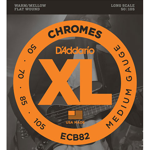 Saiten E-Bass D'Addario ECB82 Chromes .050-105
