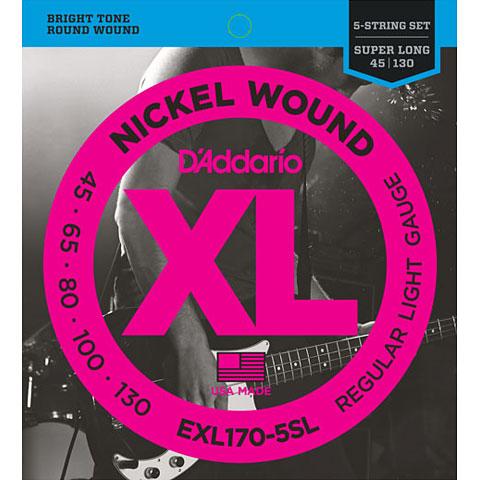 D'Addario EXL170-5SL Nickel Wound .045-130
