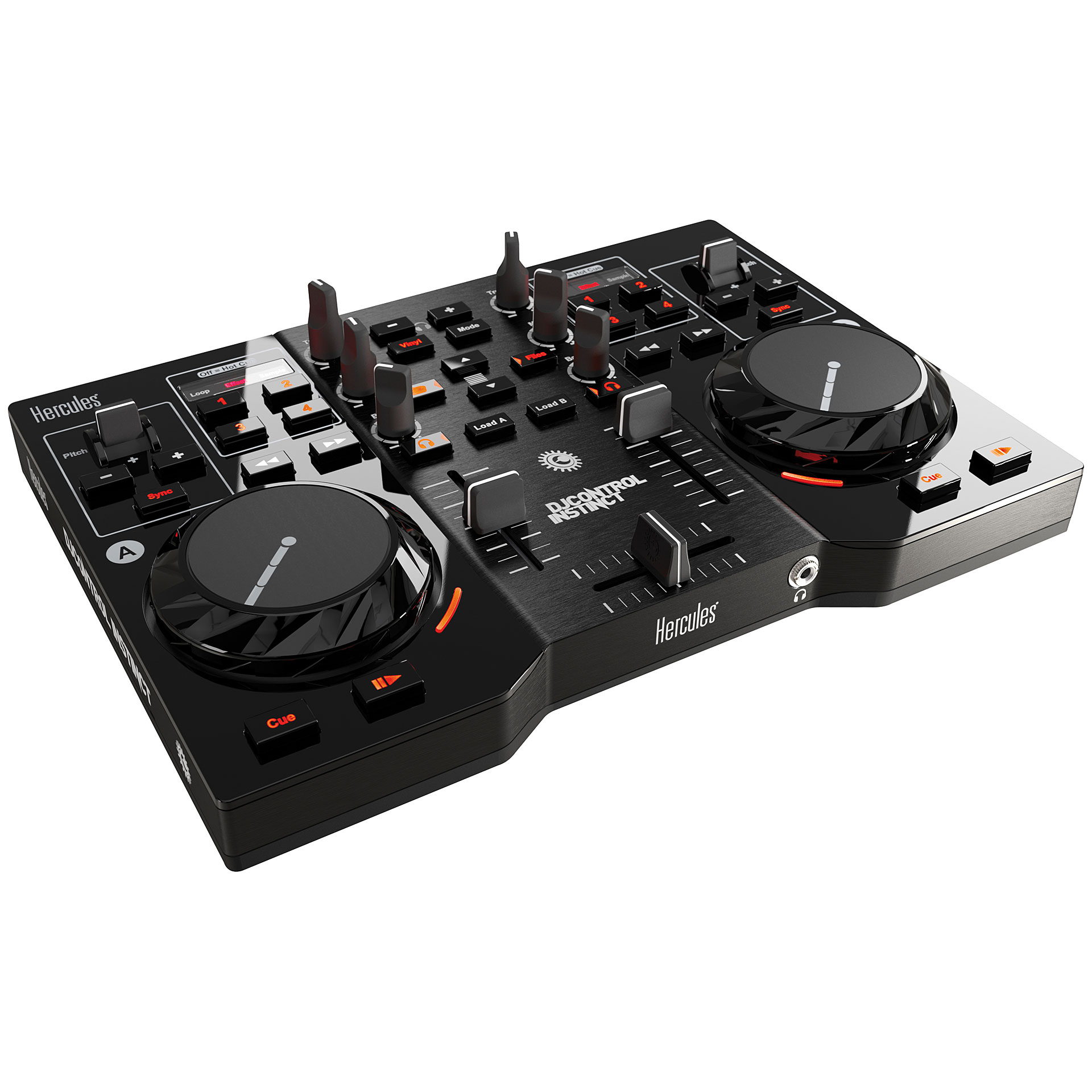 hercules dj control instinct dj controller. Black Bedroom Furniture Sets. Home Design Ideas