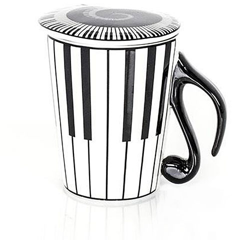 Tazas Musicwear Keyboard Mug and Lid