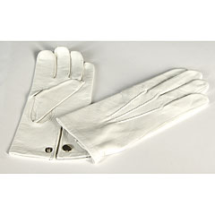 Bold Leather Parade Gloves White Size 8