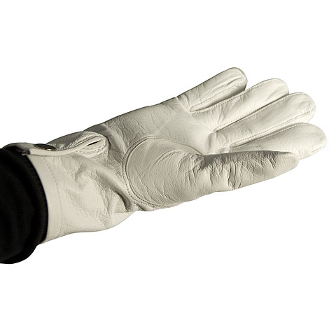 Bold Leather Parade Gloves White Size 8 1/2