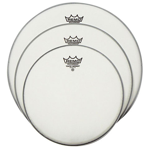 "Juego de parches Remo Emperor Coated 10""/12""/14"" Drum Head Pack"