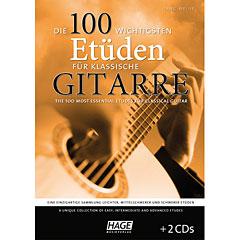Hage Die 100 wichtigsten Etüden für klassische Gitarre « Recueil de Partitions