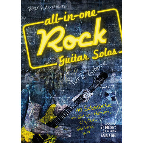 Music Notes Acoustic Music Books All In One Rock Guitar Solos