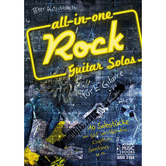 Acoustic Music Books All In One Rock Guitar Solos « Libro de partituras
