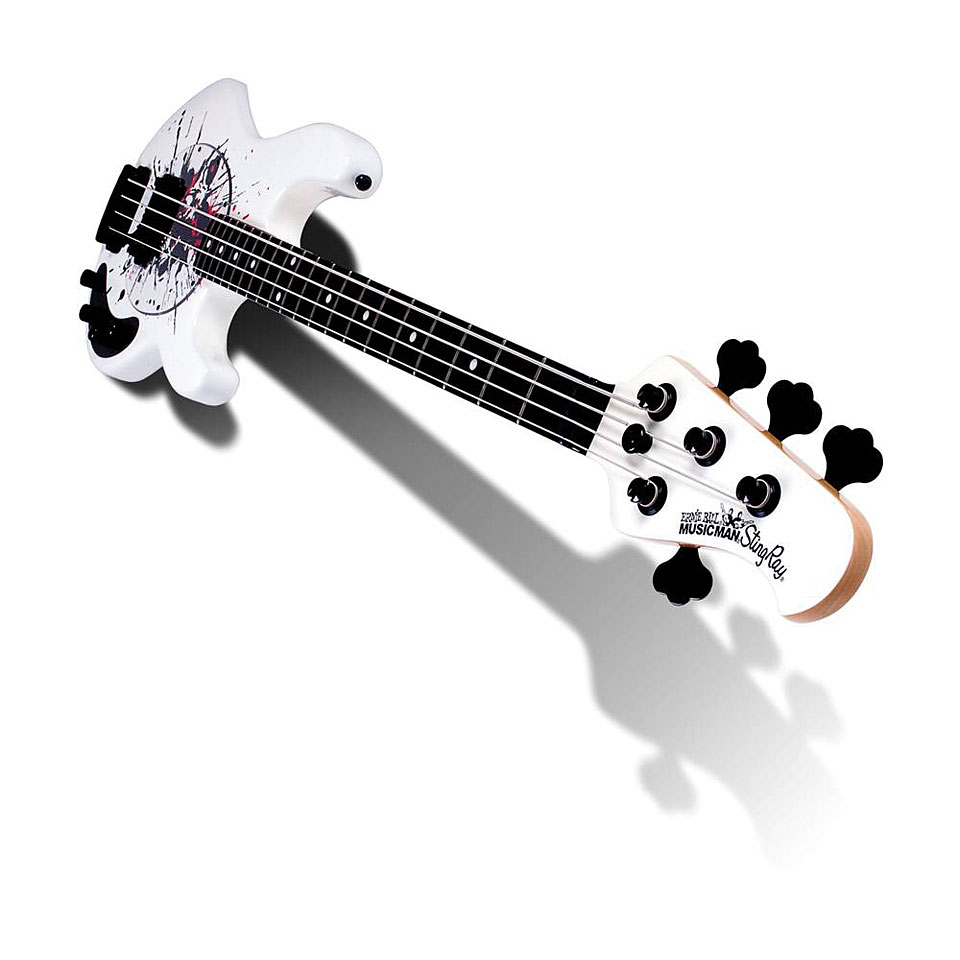 music man stingray splatter limited electric bass guitar. Black Bedroom Furniture Sets. Home Design Ideas