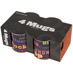 Music Sales Keramikbecher Music Genres ( 4Pack) « Tazas