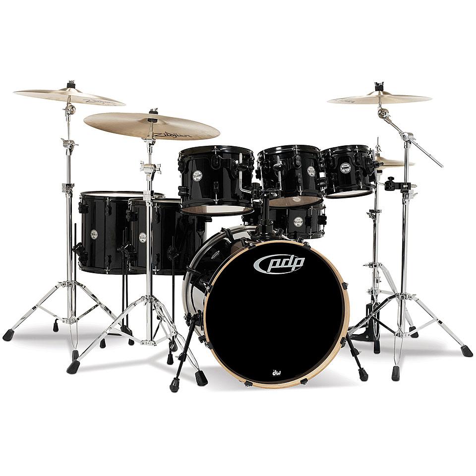 Akustikdrums - pdp Concept Maple CM7 Pearlescent Black Schlagzeug - Onlineshop Musik Produktiv