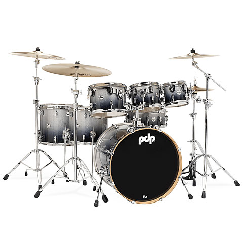 Drumstel pdp Concept Maple CM7 Silver to Black Sparkle Fade