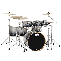 pdp Concept Maple CM7 Silver to Black Sparkle Fade « Batterie acoustique