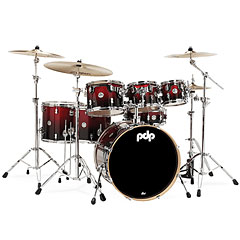 pdp Concept Maple CM7 Red to Black Sparkle Fade « Schlagzeug