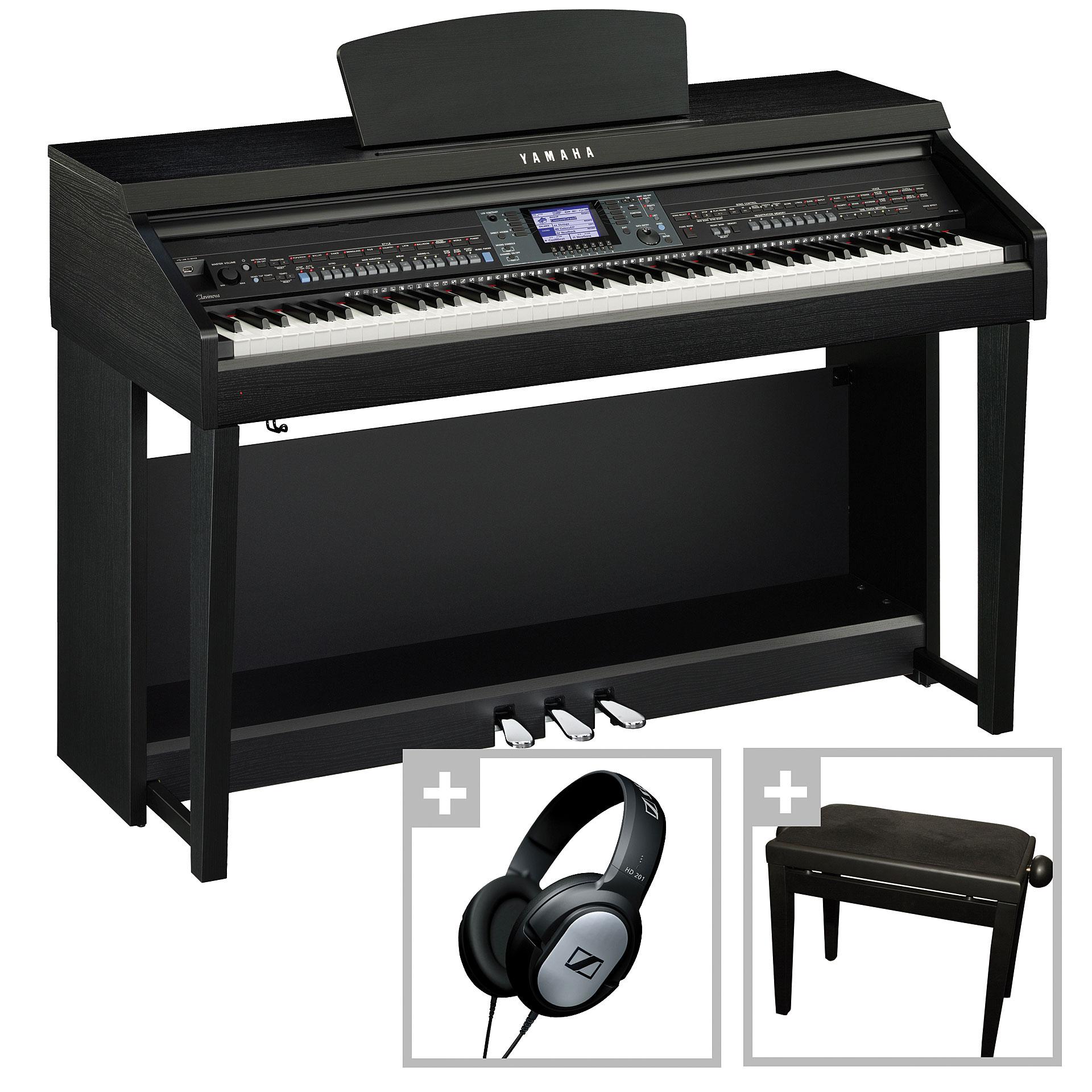 Yamaha clavinova cvp 601 b bundle digital piano for Yamaha clavinova cvp 601