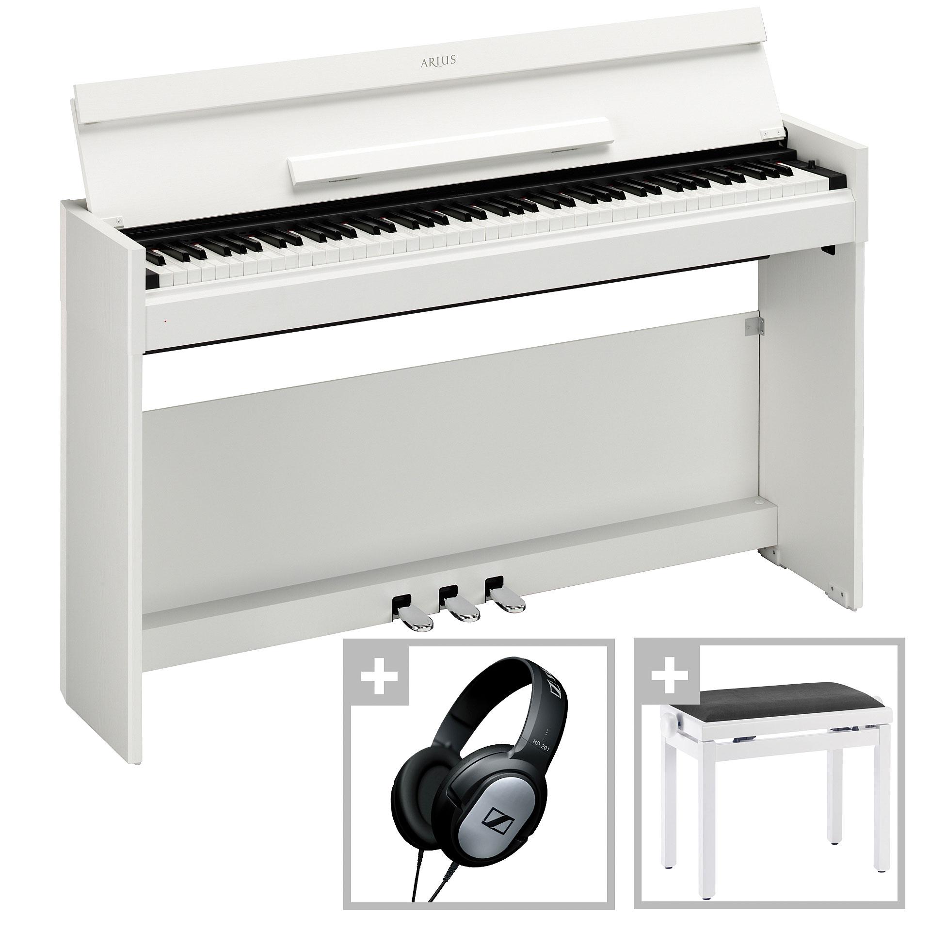yamaha arius ydp s51 wh bundle digital piano. Black Bedroom Furniture Sets. Home Design Ideas