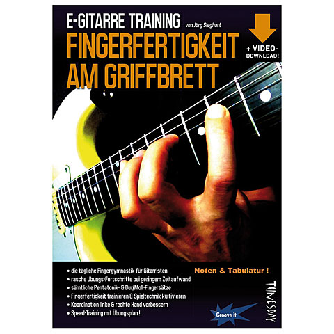 Libros didácticos Tunesday E-Gitarre Training - Fingerfertigkeit