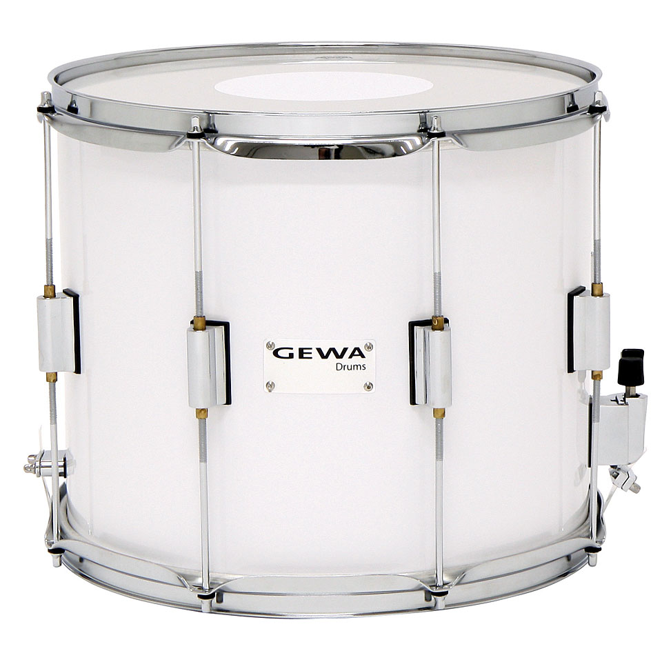 Marching - Gewa Parade Snare 14 x 12 White Parade Snare - Onlineshop Musik Produktiv