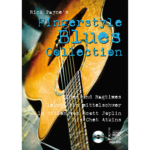 Music Notes Acoustic Music Books Fingerstyle Blues Collection