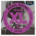 Electric Guitar Strings D'Addario EXL156 Nickel Wound .024-084
