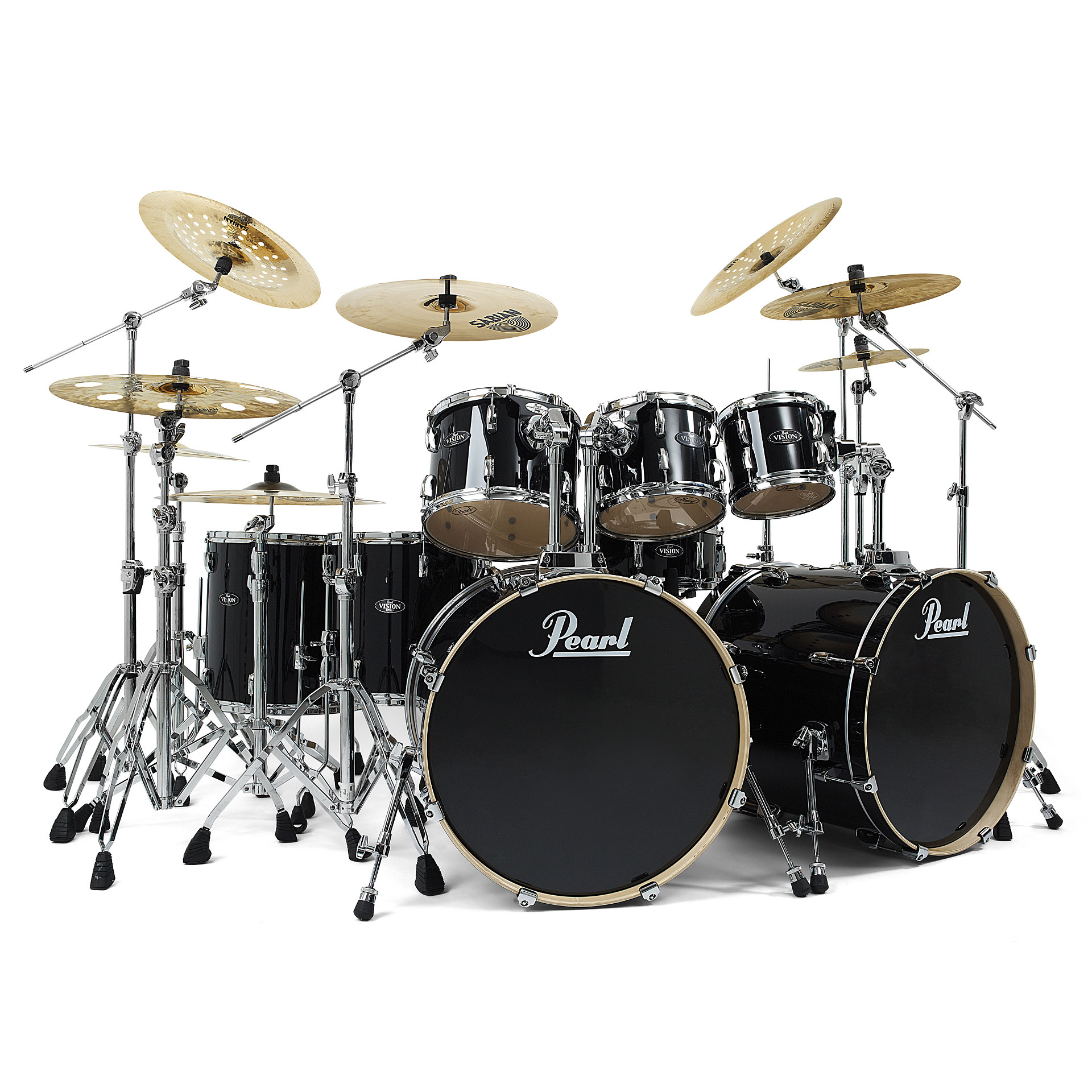 Pearl Vision VB828 #31 Jet Black « Drum Kit