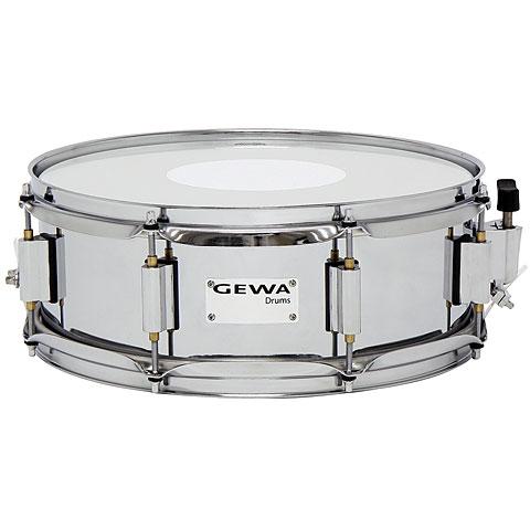 Gewa Marching Steel Snare Drum 14  x 5  Chrome Finish