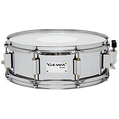 "Gewa Marching Steel Snare Drum 14"" x 5"" Chrome Finish « Caisse claire de fanfare"