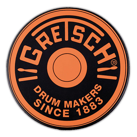 "Pad de práctica Gretsch Drums 6"" Orange Round Badge Logo Practise Pad"