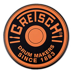 "Gretsch Drums 6"" Orange Round Badge Logo Practise Pad « Pad de práctica"