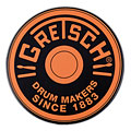 "Übungspad Gretsch Drums 6"" Orange Round Badge Logo Practise Pad"
