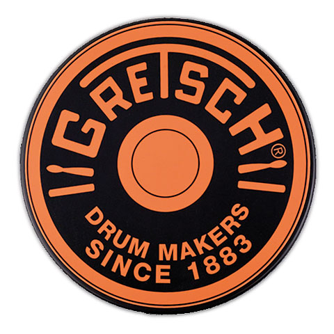 "Pad de práctica Gretsch Drums 12"" Orange Round Badge Logo Practise Pad"