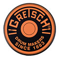 "Übungspad Gretsch Drums 12"" Orange Round Badge Logo Practise Pad"