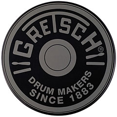 "Gretsch Drums 6"" Grey Round Badge Logo Practise Pad « Übungspad"