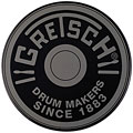 "Übungspad Gretsch Drums 6"" Grey Round Badge Logo Practise Pad"